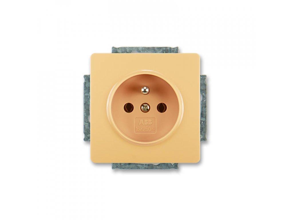 abb 5518g a02349 d1 zasuvka jednonasobna s ochrannym kolikem, bezova large greybox