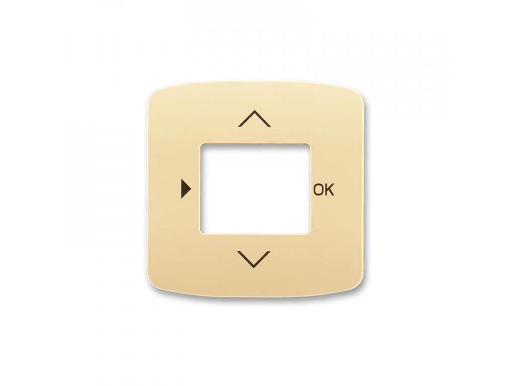 abb 3299a a40100 d kryt s otvorem a potiskem pro ovladace casovaci busch timer, bezova large greybox
