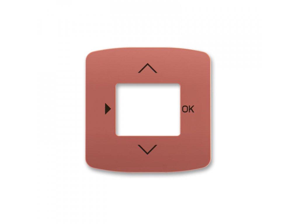 abb 3299a a40100 r2 kryt s otvorem a potiskem pro ovladace casovaci busch timer, vresova cervena large greybox