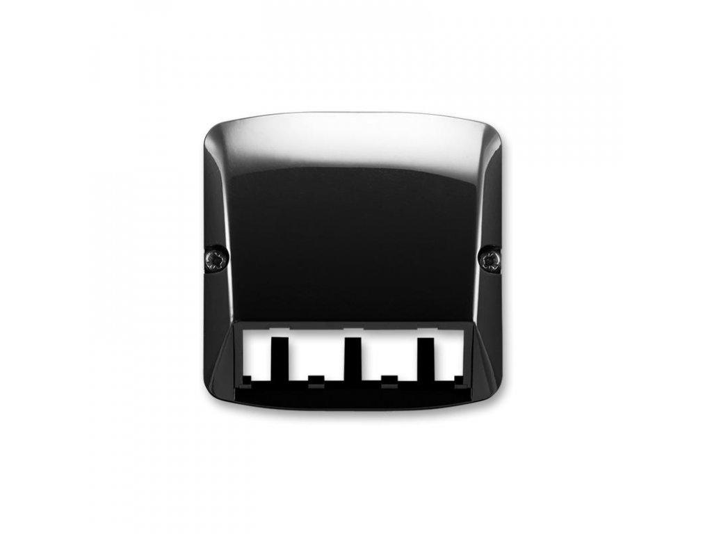abb 5014a a00410 n kryt pro pristroj sikmeho osvetleni s led nebo pro prvky panduit mini com, cerna large greybox