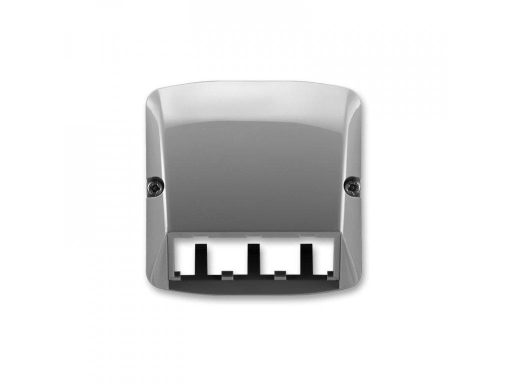 abb 5014a a00410 s2 kryt pro pristroj sikmeho osvetleni s led nebo pro prvky panduit mini com, kourova seda large greybox
