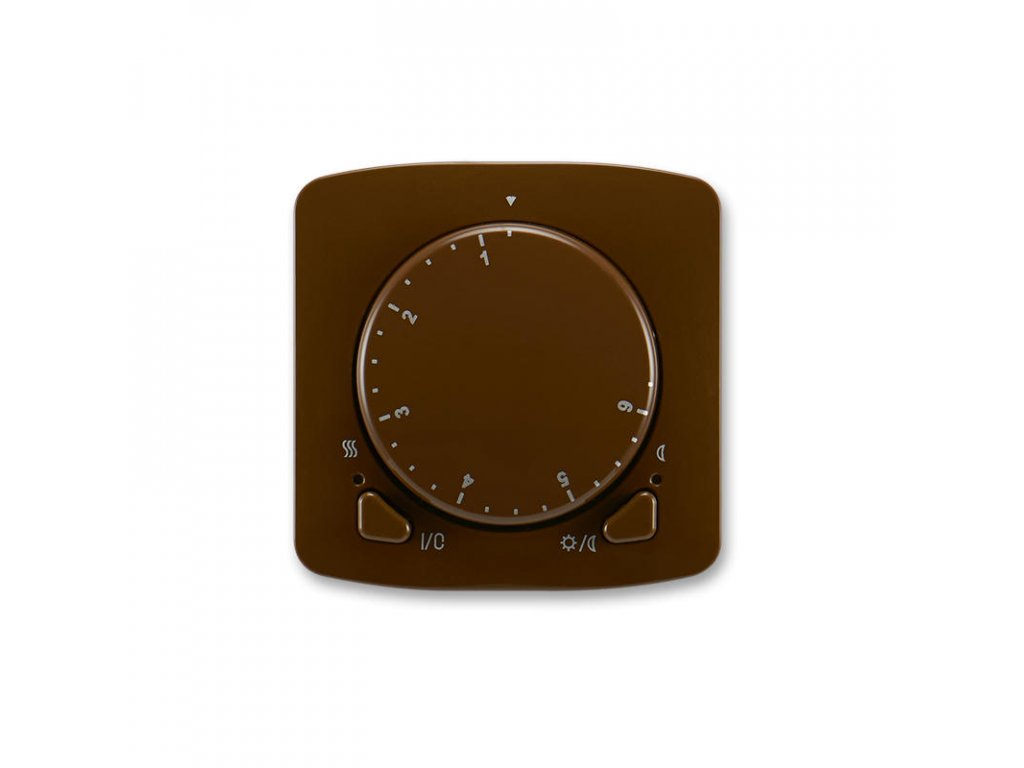 abb 3292a a10101 h termostat univerzalni s otocnym nastavenim teploty ovl. jednotka , hneda large greybox
