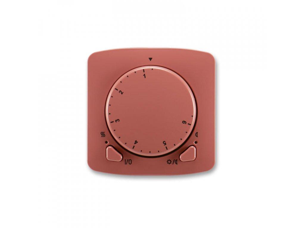 abb 3292a a10101 r2 termostat univerzalni s otocnym nastavenim teploty ovl. jednotka , vresova cervena large greybox