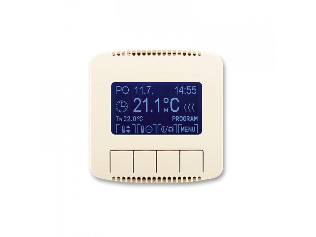 abb 3292a a10301 c termostat univerzalni programovatelny ovladaci jednotka , slonova kost large greybox