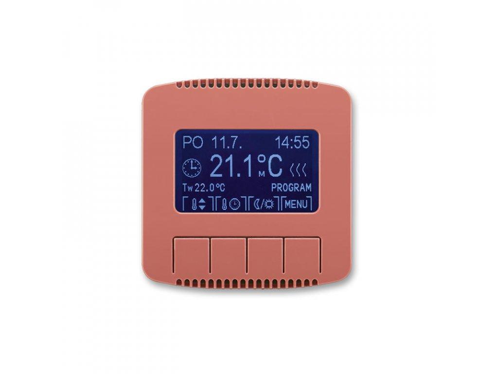 abb 3292a a10301 r2 termostat univerzalni programovatelny ovladaci jednotka , vresova cervena large greybox