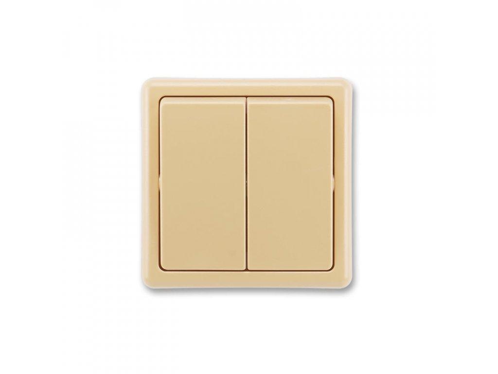 abb 3553 52289 d2 prepinac dvojity stridavy, razeni 6 6, bezova large greybox