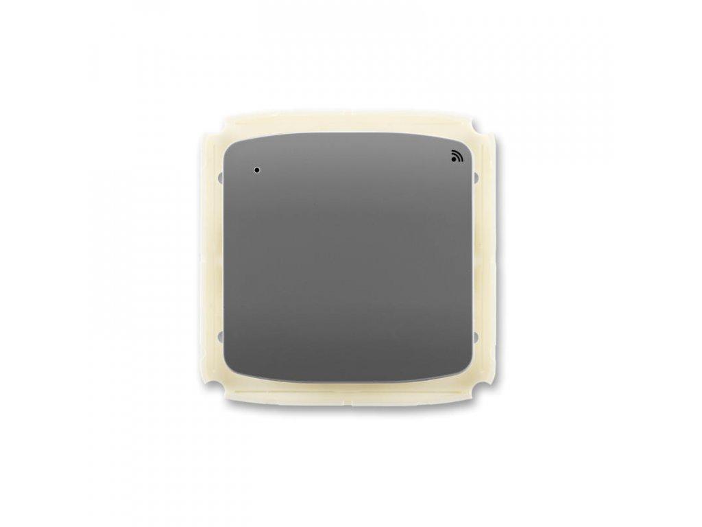 abb 3299a a11908 s2 vysilac radiofrekvencniho rf signalu s kratkocestnym ovladacem, nastenny, kourova seda large greybox