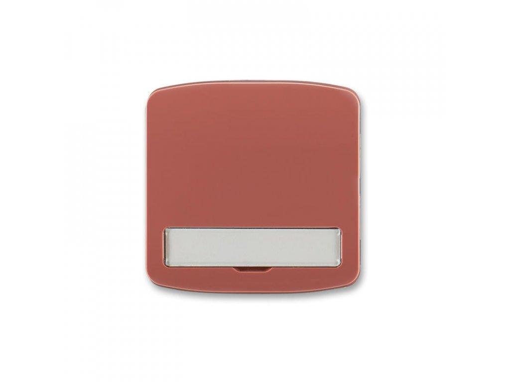 abb 3558a a00620 r2 kryt spinace jednoduchy, s popisovym polem, vresova cervena large greybox