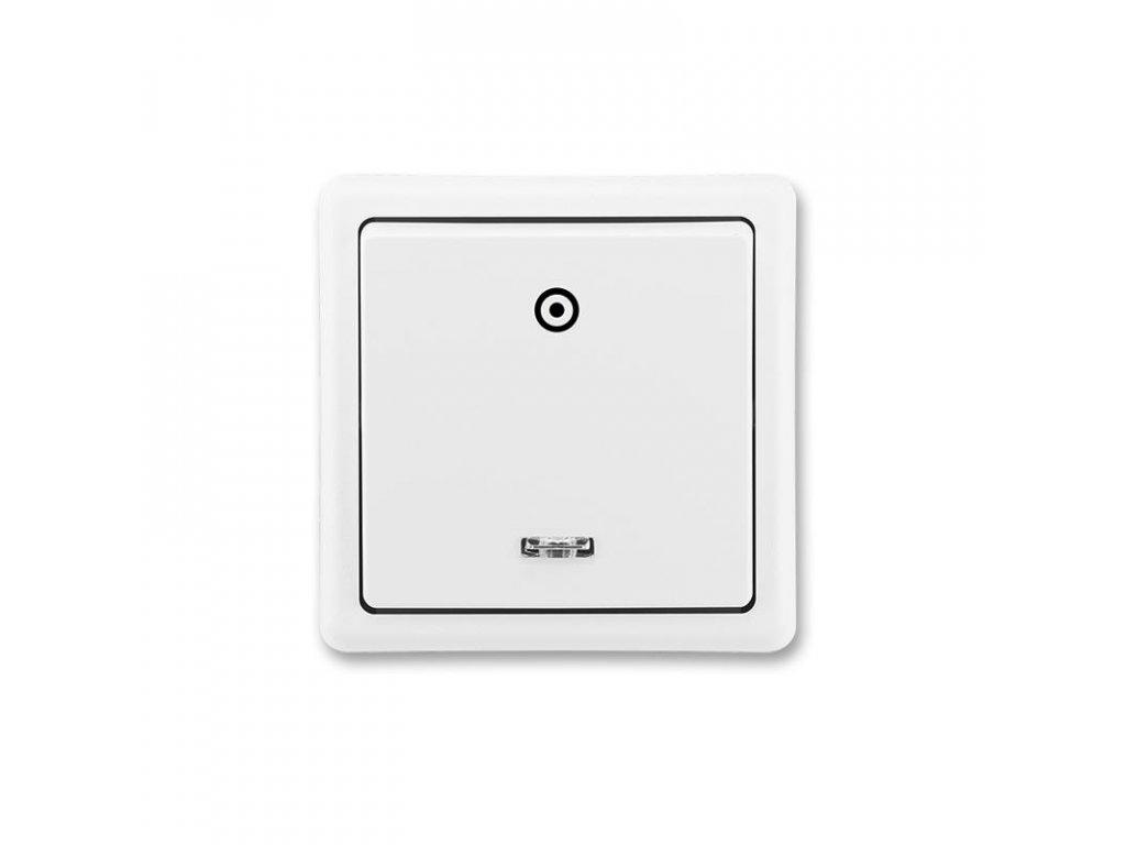 abb 3553 91289 b1 ovladac zapinaci, se signalizacni doutnavkou, razeni 1 0s, jasne bila large greybox
