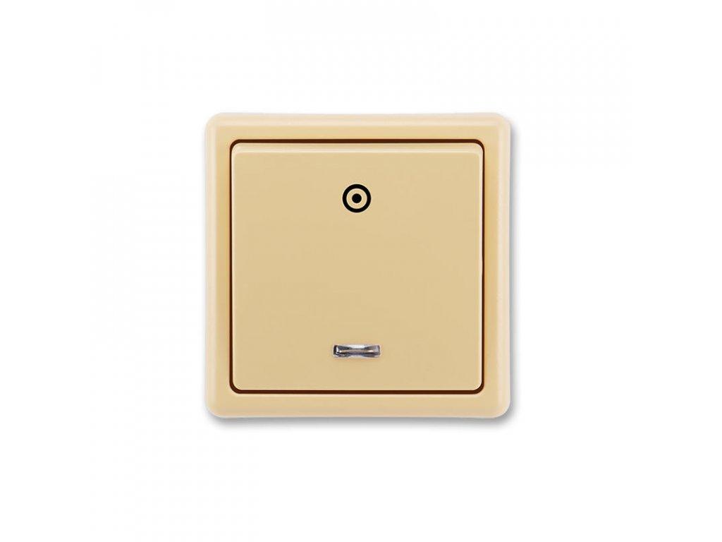 abb 3553 91289 d2 ovladac zapinaci, se signalizacni doutnavkou, razeni 1 0s, bezova large greybox
