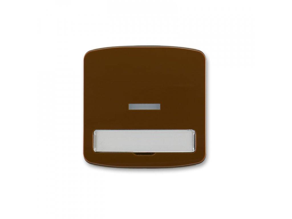 abb 3558a a610 h kryt spinace jednoduchy, s cirym pruzorem, s popisovym polem, hneda large greybox