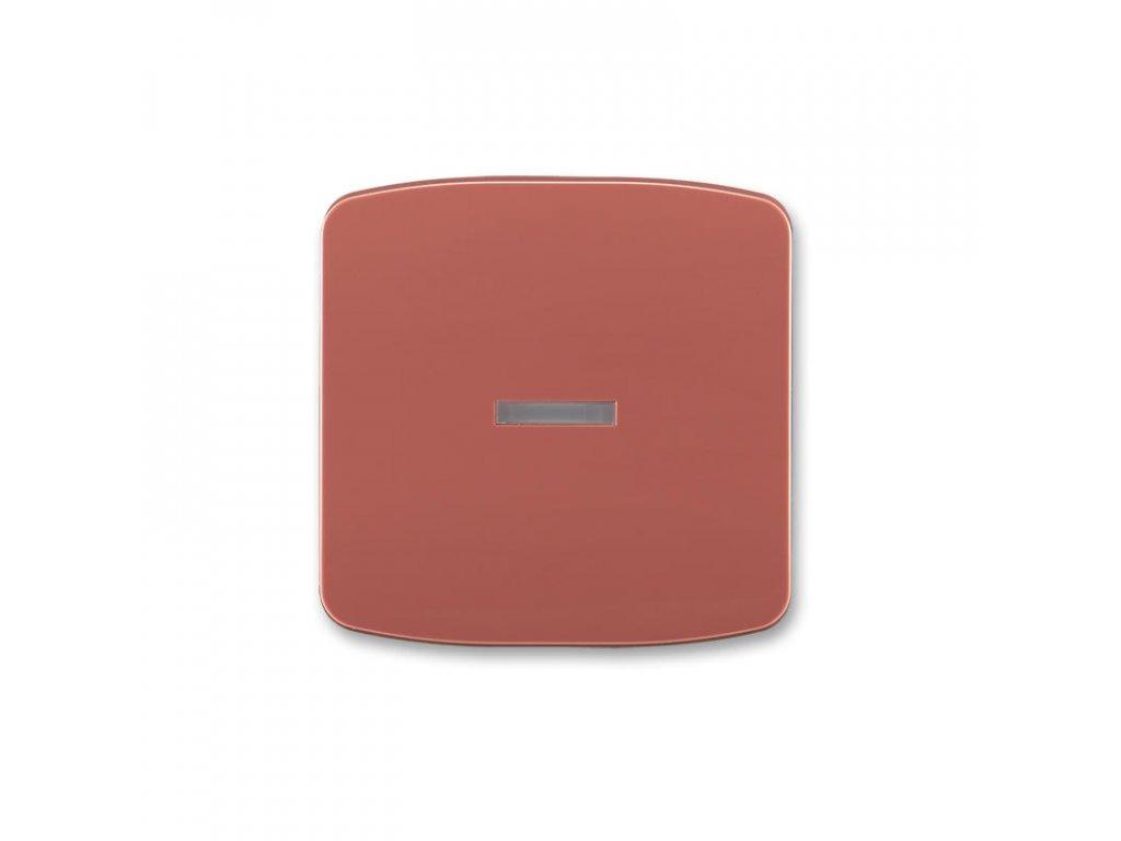 abb 3558a a653 r2 kryt spinace jednoduchy, s pruzorem, vresova cervena large greybox