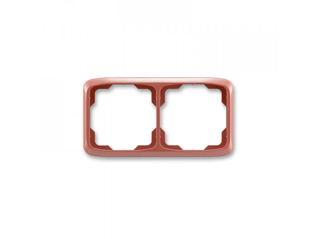 abb 3901a b20 r2 ramecek dvojnasobny, vodorovny, vresova cervena large greybox
