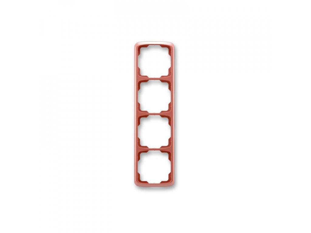 abb 3901a b41 r2 ramecek ctyrnasobny, svisly, vresova cervena large greybox