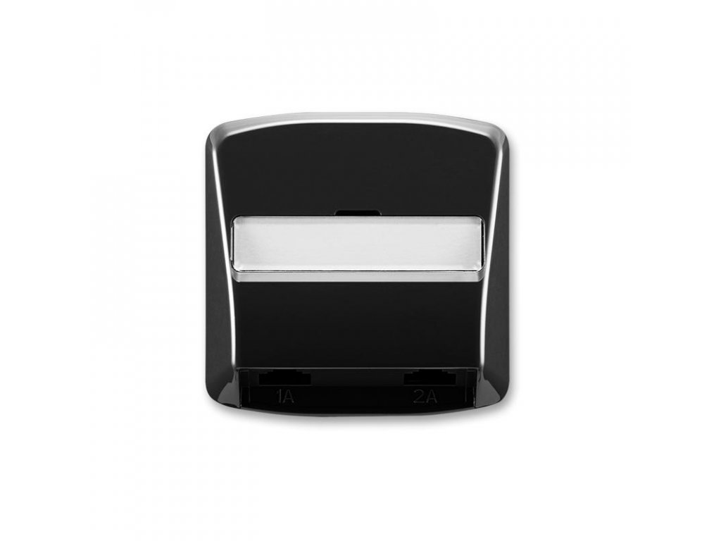 abb 5013a a00215 n kryt zasuvky telefonni s 2 otvory, cerna large greybox