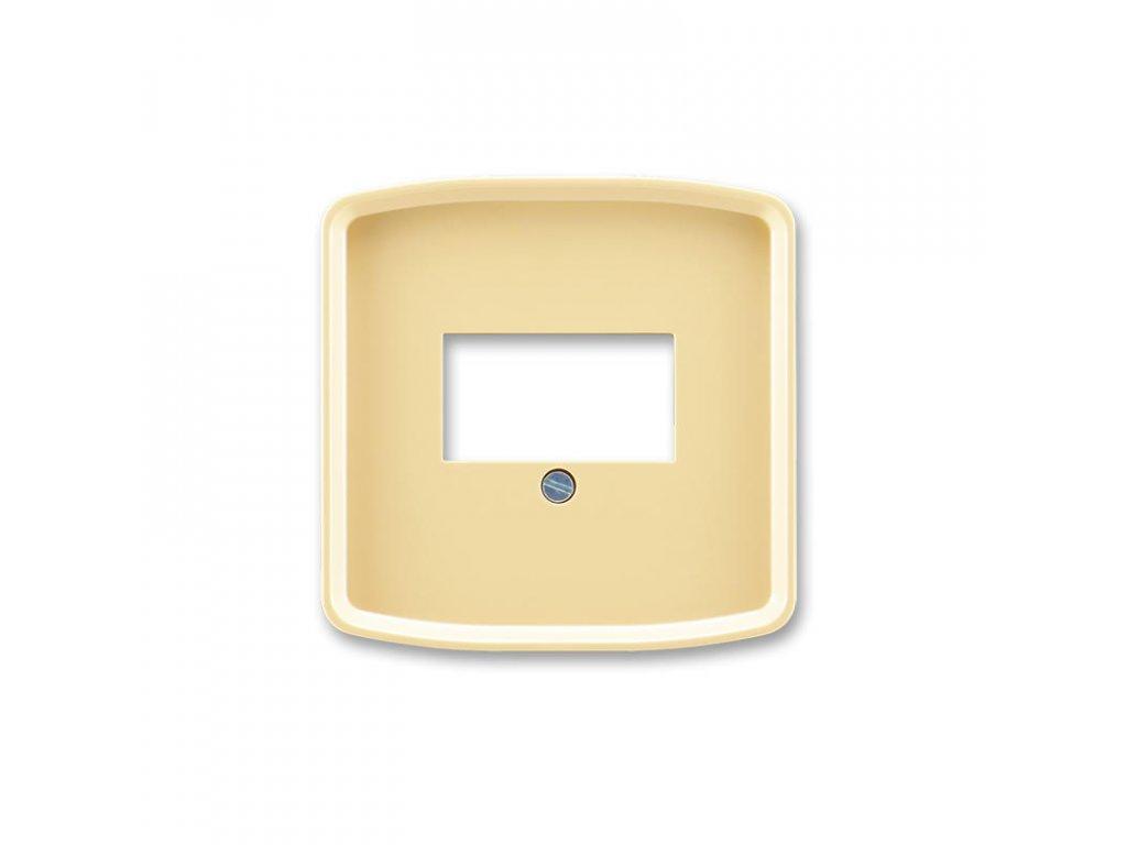 abb 5014a a00040 d kryt zasuvky komunikacni prime, bezova large greybox