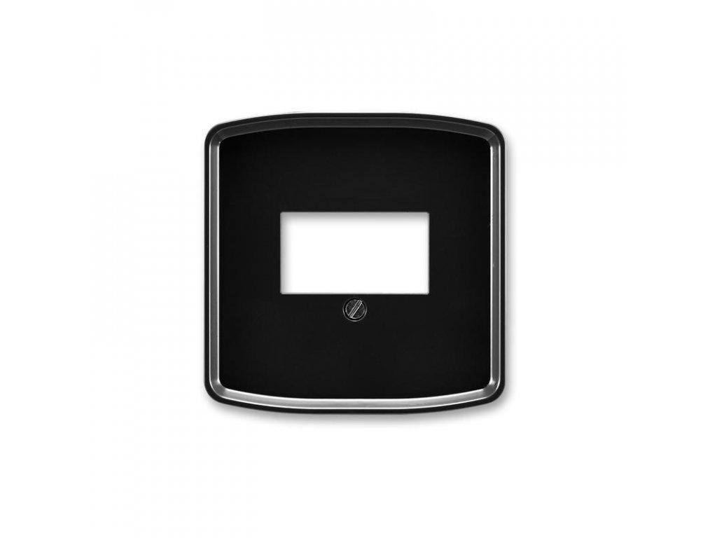 abb 5014a a00040 n kryt zasuvky komunikacni prime, cerna large greybox