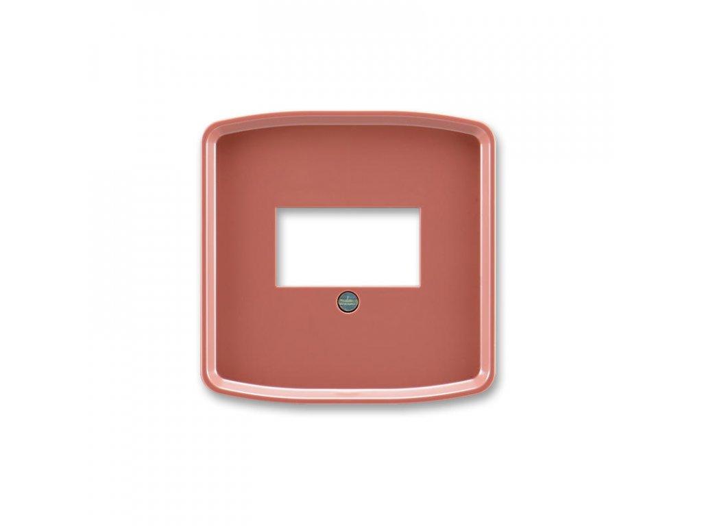 abb 5014a a00040 r2 kryt zasuvky komunikacni prime, vresova cervena large greybox