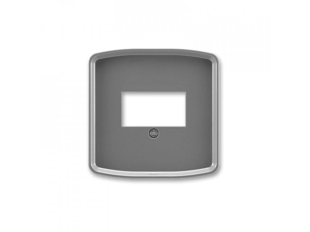 abb 5014a a00040 s2 kryt zasuvky komunikacni prime, kourova seda large greybox