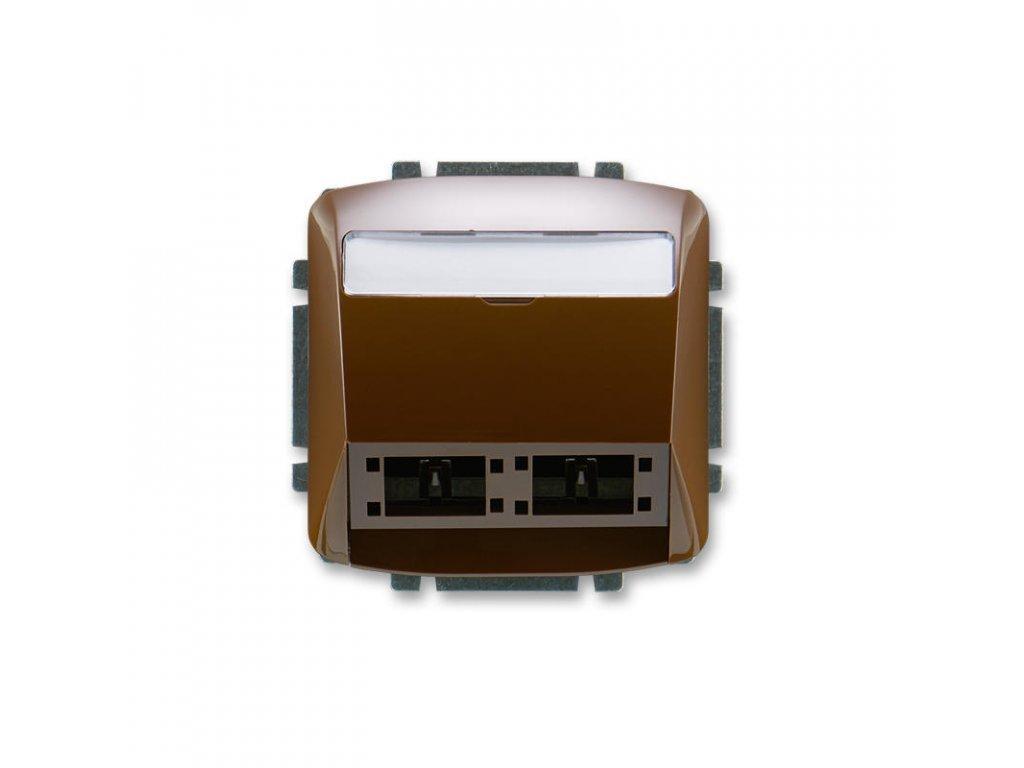 abb 5014a a00420 h kryt zasuvky komunikacni pro prvky reichle de massari freenet, hneda large greybox