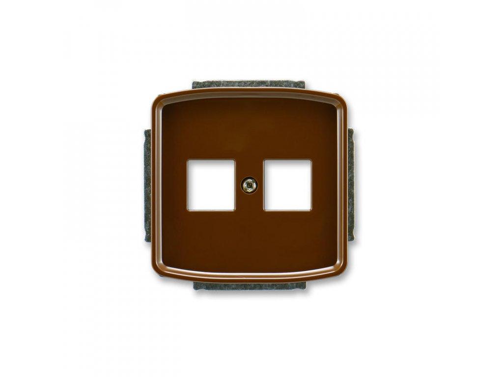 abb 5014a a02018 h kryt zasuvky komunikacni, hneda large greybox