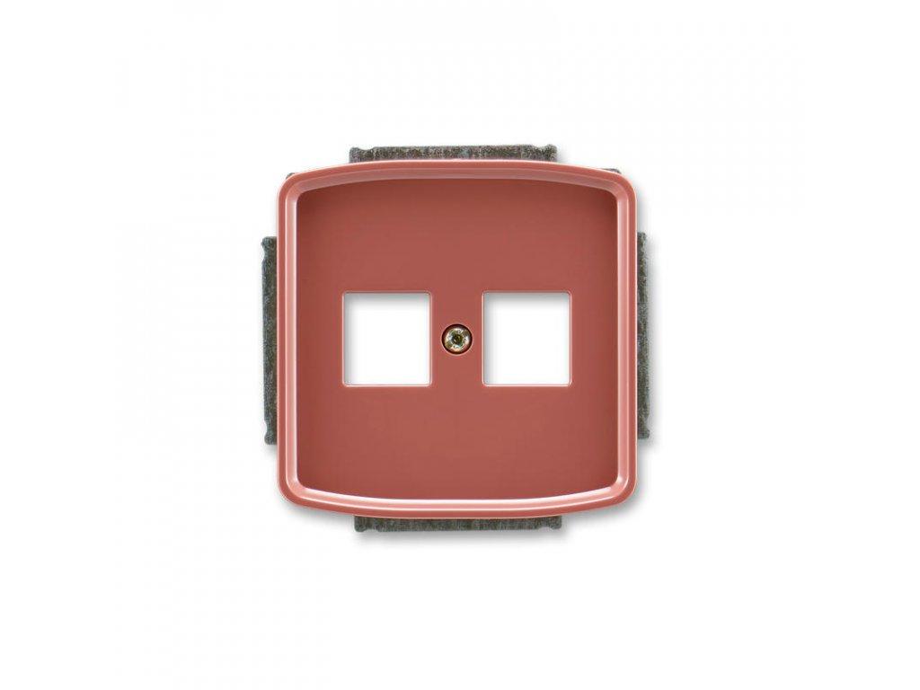 abb 5014a a02018 r2 kryt zasuvky komunikacni, vresova cervena large greybox