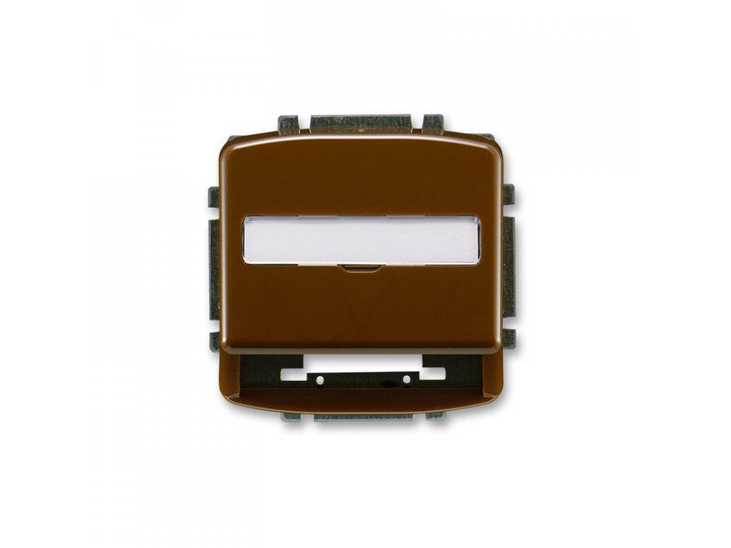 abb 5014a a100 h kryt zasuvky komunikacni s popisovym polem, hneda large greybox