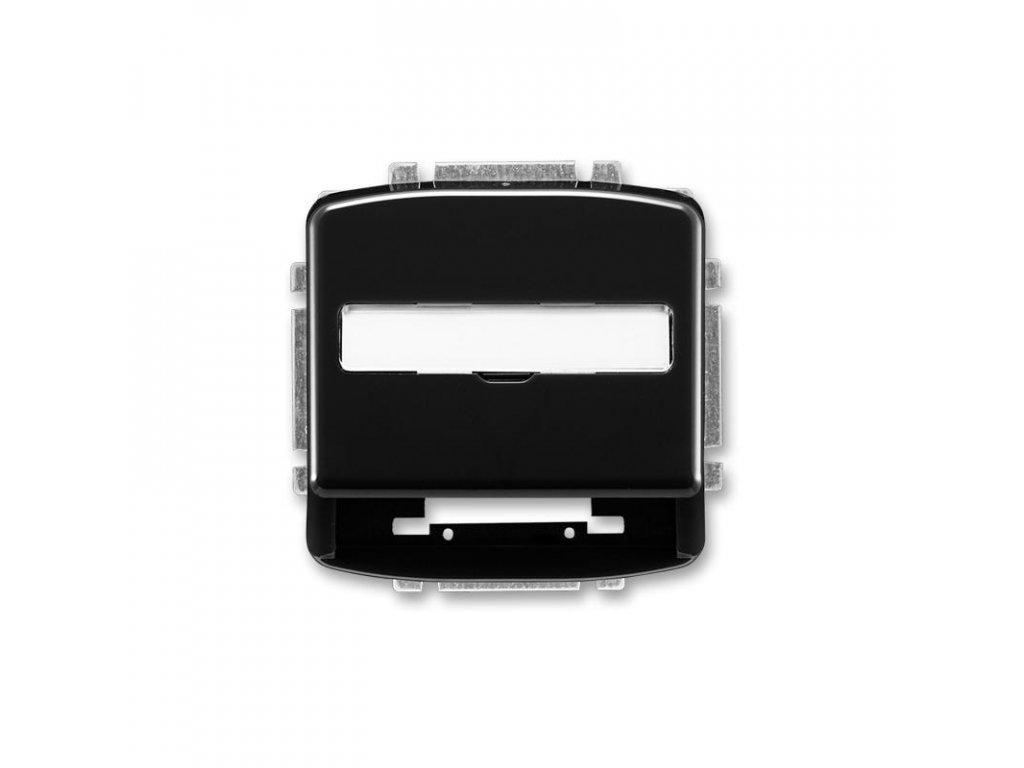 abb 5014a a100 n kryt zasuvky komunikacni s popisovym polem, cerna large greybox