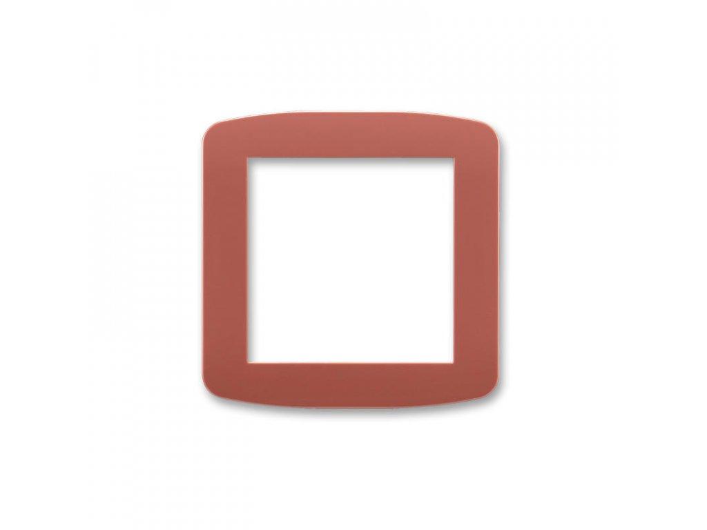 abb 5016a a00070 r2 kryt pro pristroj osvetleni s led nebo pro adapter profil 45, vresova cervena large greybox