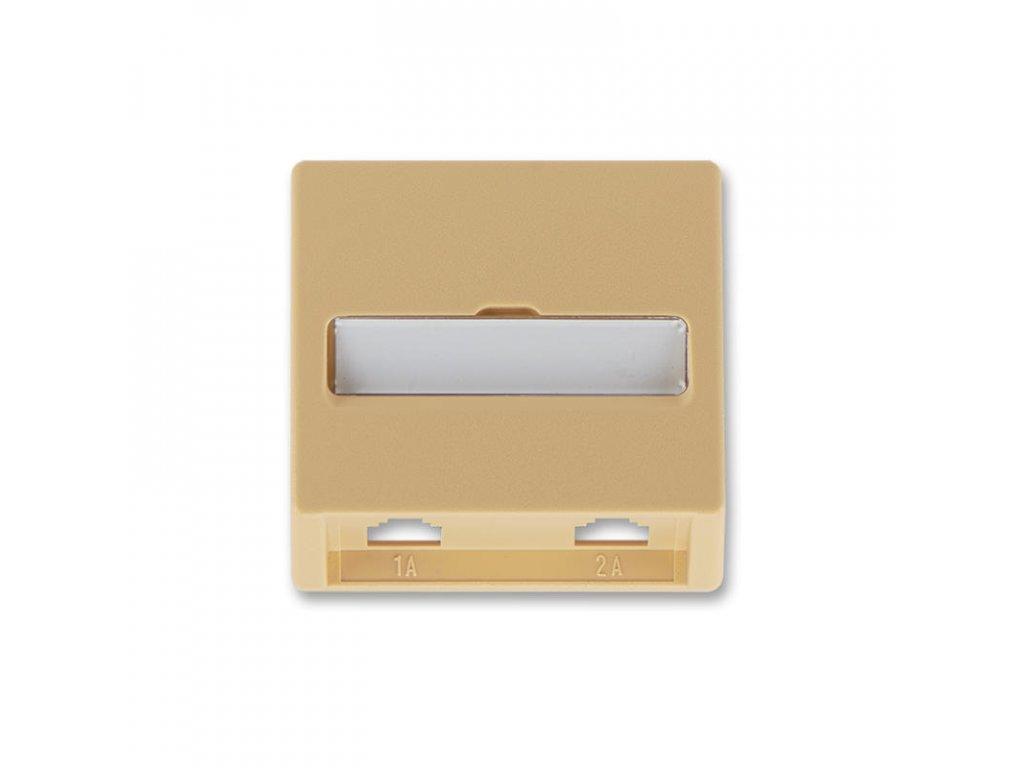 abb 5013c a00215 d2 kryt zasuvky telefonni, dvojnasobne pro pristroj 5013u , bezova large greybox