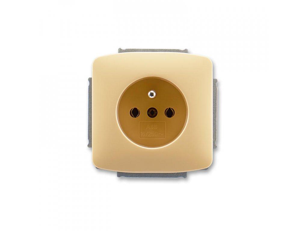 abb 5518a a2349 d zasuvka jednonasobna s ochrannym kolikem, bezova large greybox