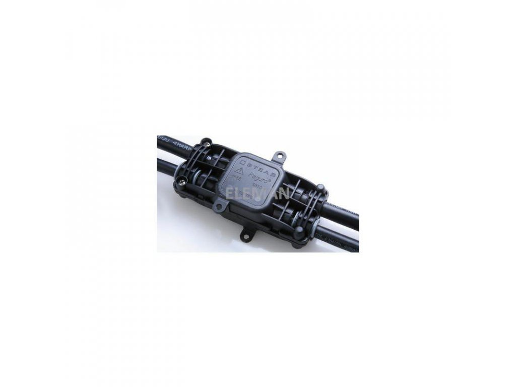 eleman 1005625 spojka gelova odbocna paguro 5660 4 2 ip68, 4x kabel 3x 1,5 6mm2 large greybox
