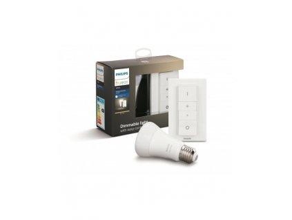 Hue Bluetooth LED White základní sada LED žárovka 1xE27 A19 9W 806lm 2700K + Dimmer Switch