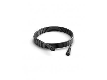 Hue prodlužovací kabel 5 m k venkovním svítidlům Philips Calla a Lily 17424/30/PN černý, nízkonapěťová základnau