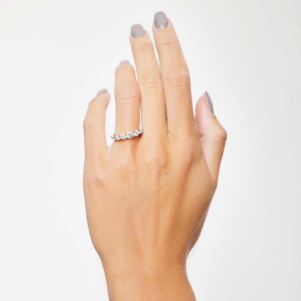 Zásnubní prsten z bílého zlata s lab-grown diamanty Pure Line 5