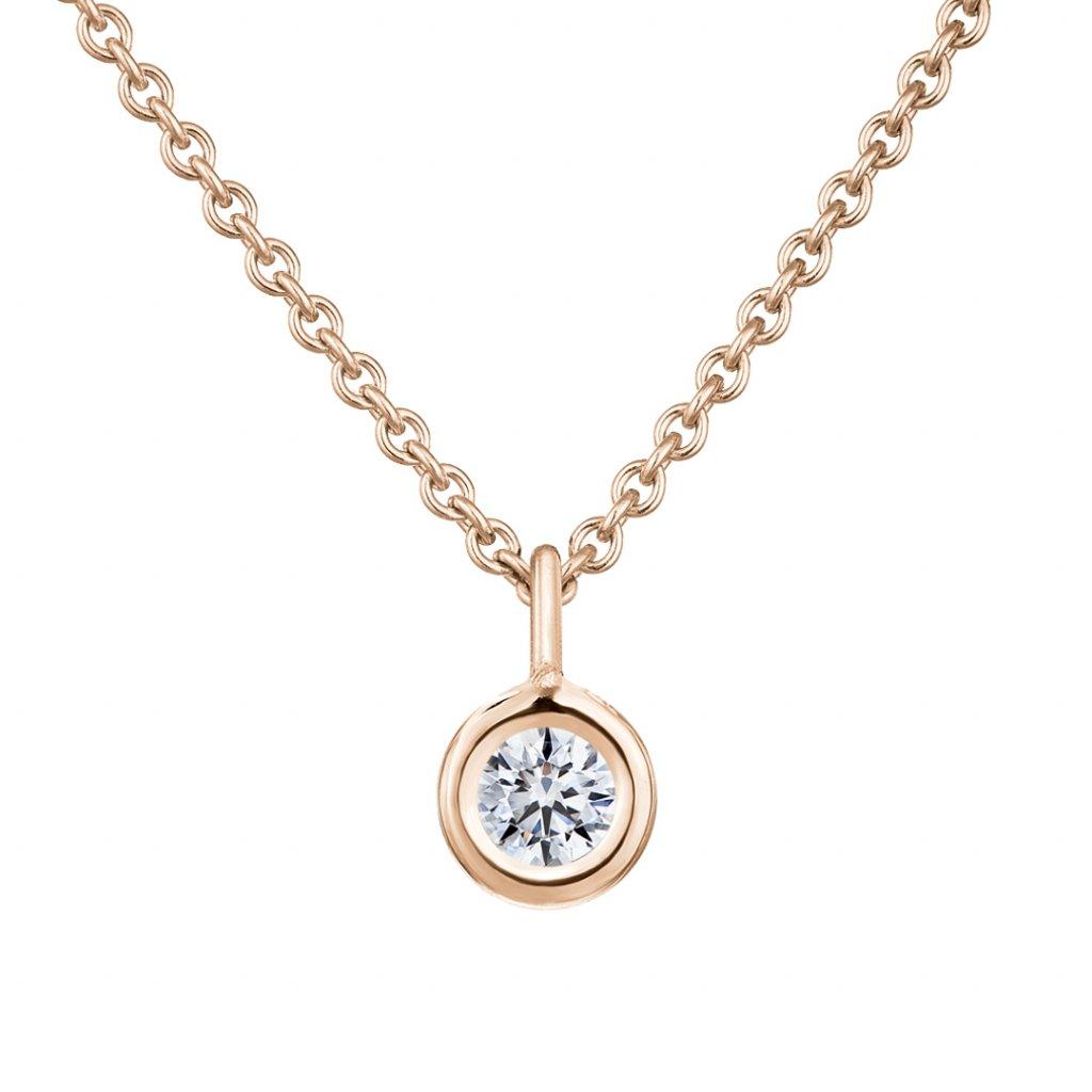 Přívěsek z růžového zlata s diamantem Sweetie Grandi