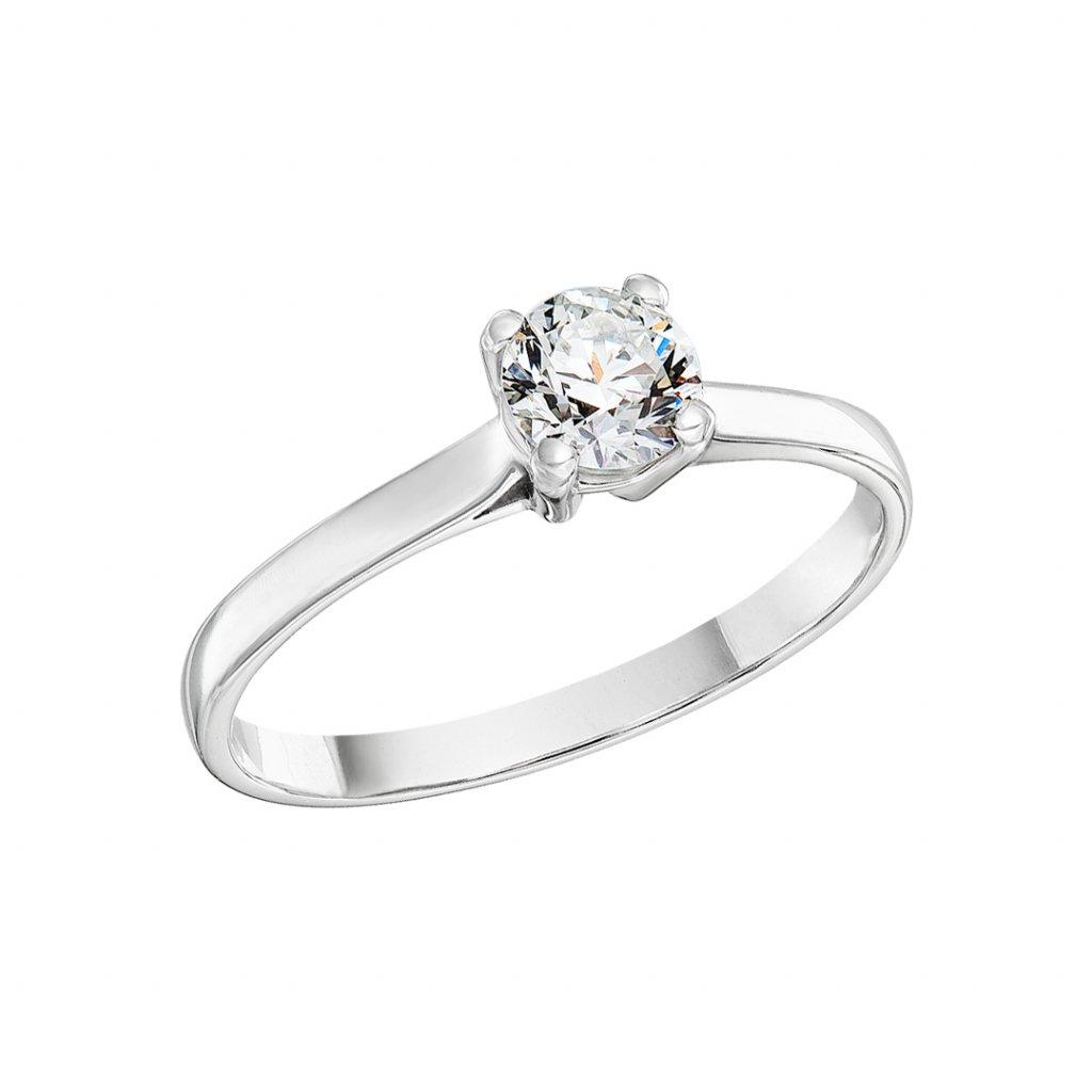 Prsten z bílého zlata s lab-grown diamantem Grace I.