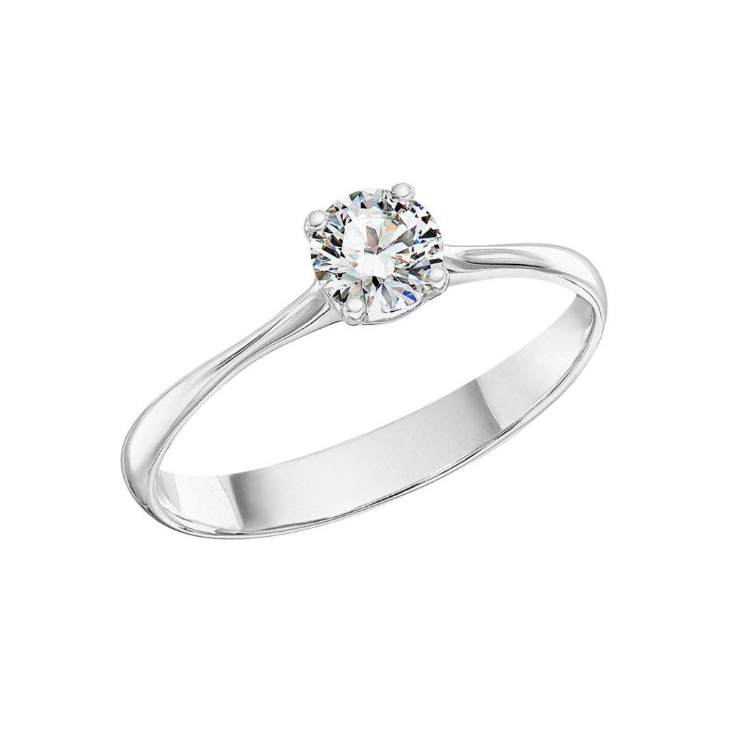 Prsten zbílého zlata slab-grown diamantem Atea I.