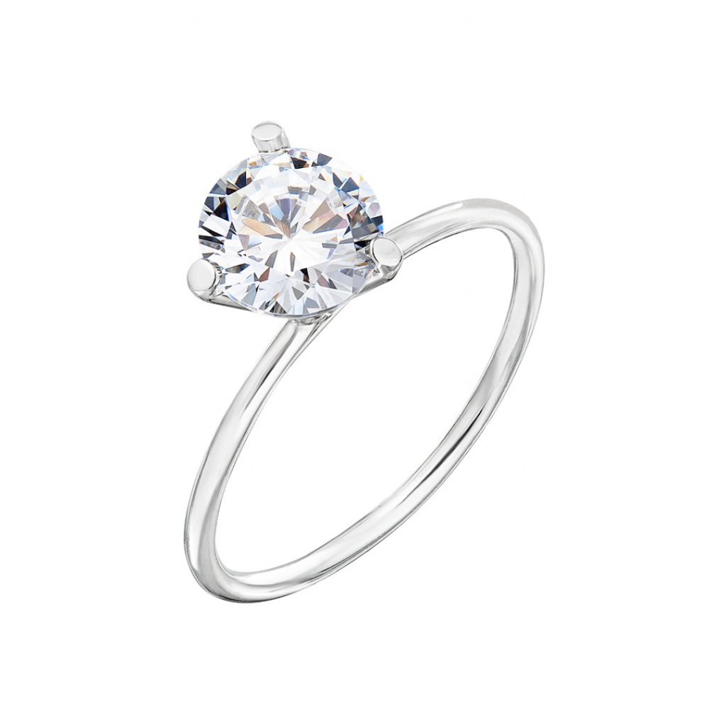 Prsten z bílého zlata s diamantem Shining Star III.