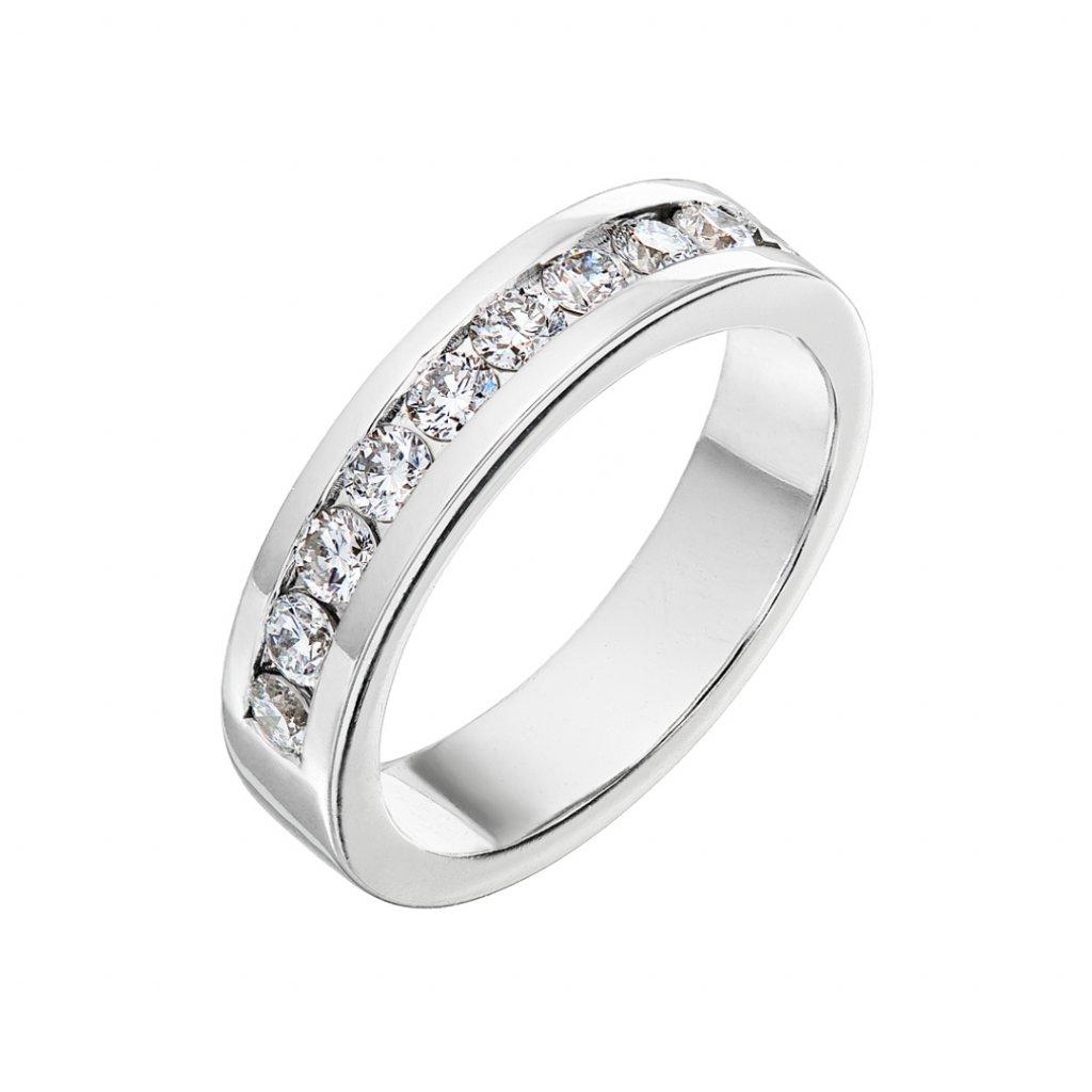 Briliantový prsten zbílého zlata slab-grown diamanty Isabel