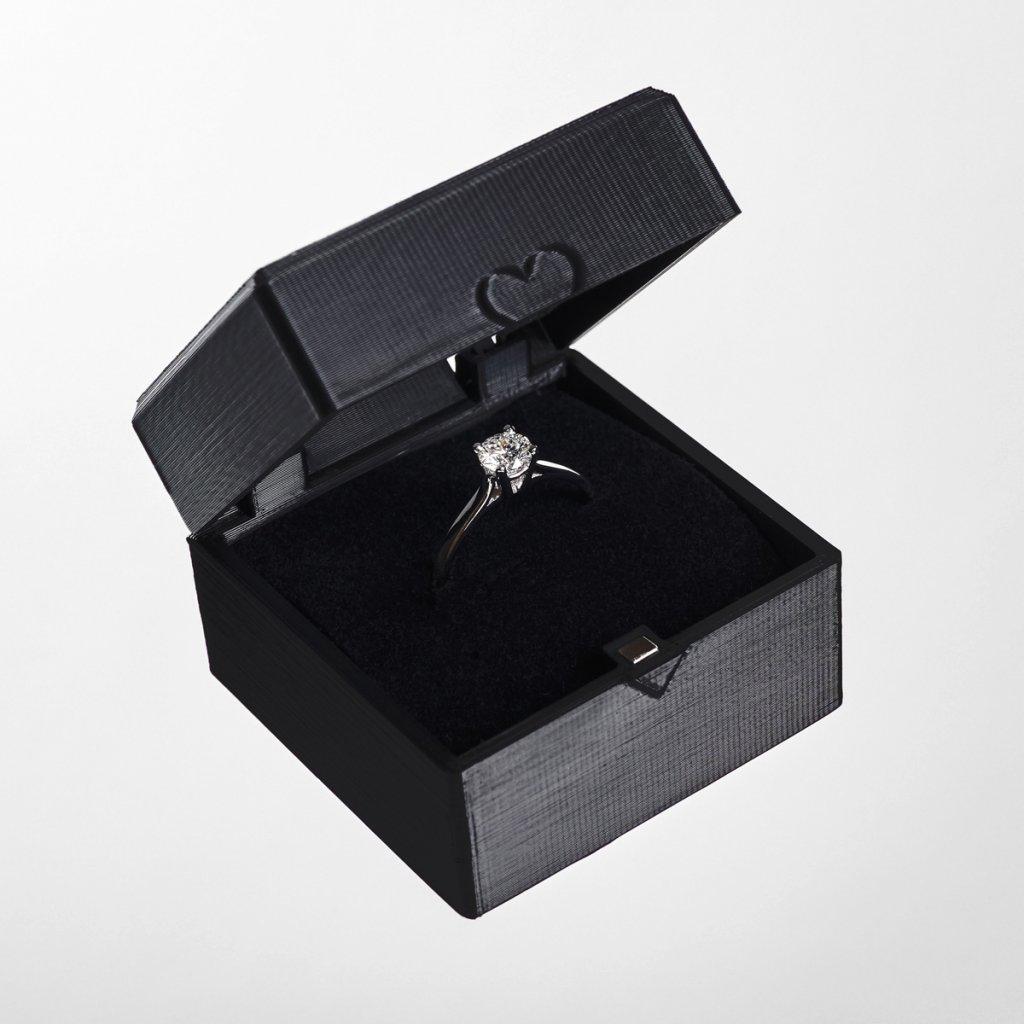 Dárková krabička z recyklovatelného plastu Tiami, černá