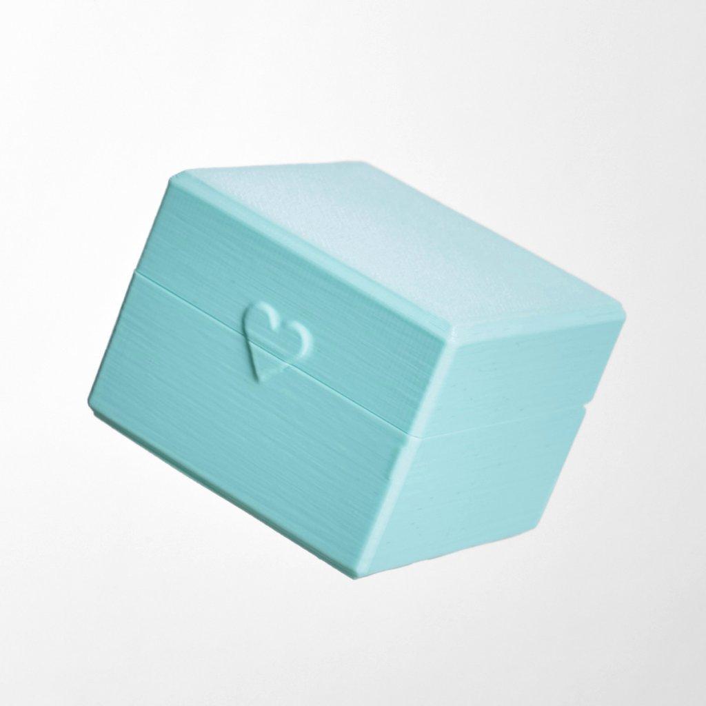 Dárková krabička z recyklovatelného plastu Tiami, mátová