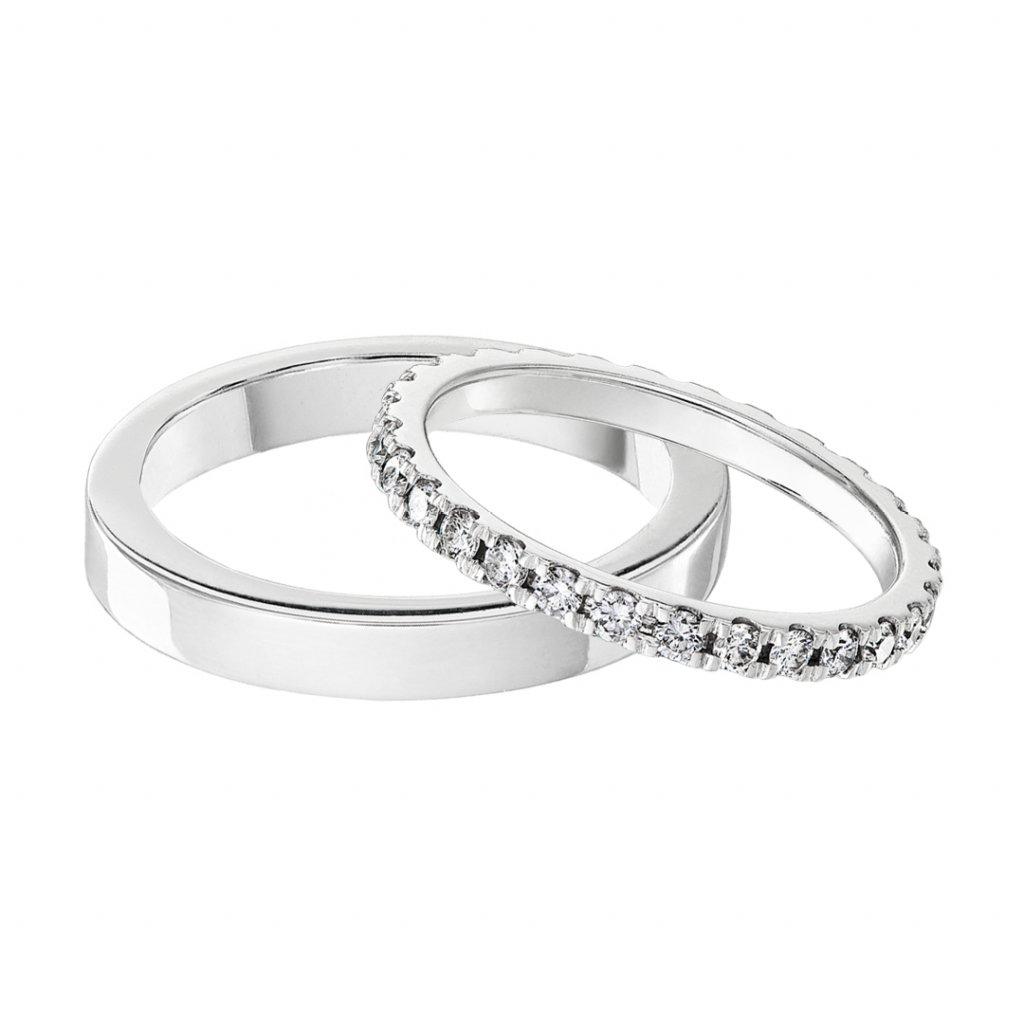 Snubní prstenyzbílého zlataslab-growndiamantyValentine