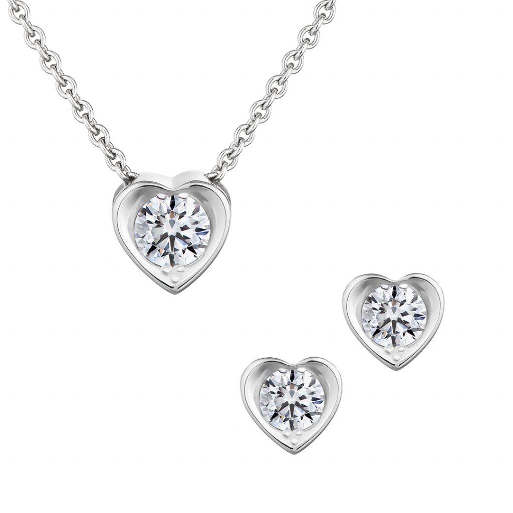 Set Pure Love zbílého zlata s lab-grown diamanty