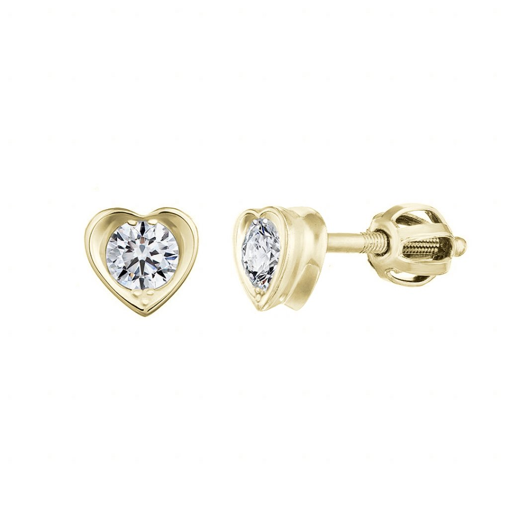 Náušnice ze žlutého zlata s lab-grown diamanty Pure Loveprodukt 48