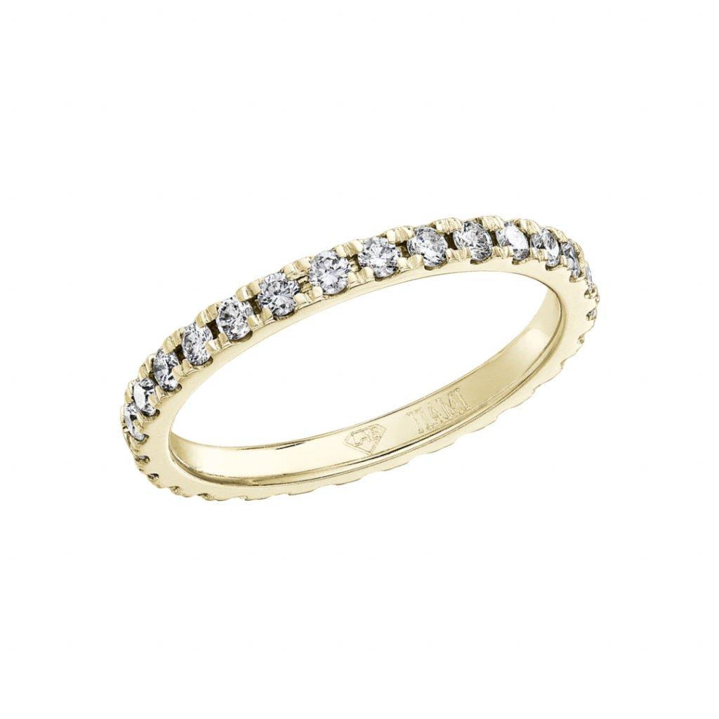 Prsten zežlutého zlata slab-grown diamanty Gemma