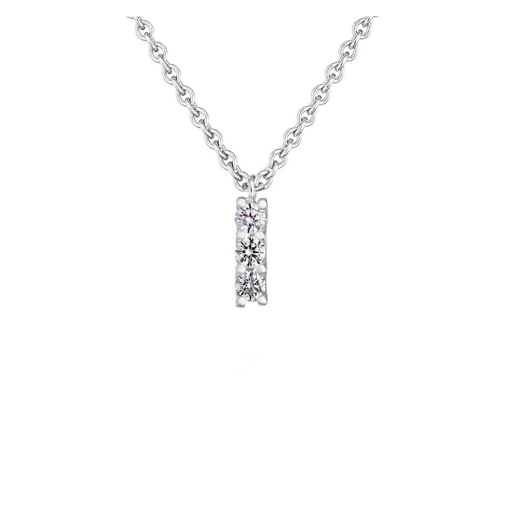 Přívěsek zbílého zlata slab-grown diamanty Pure Line 9