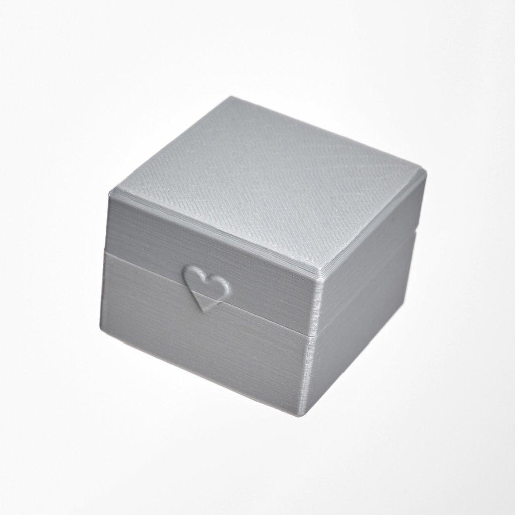 Dárková krabička z recyklovatelného plastu Tiami, šedá