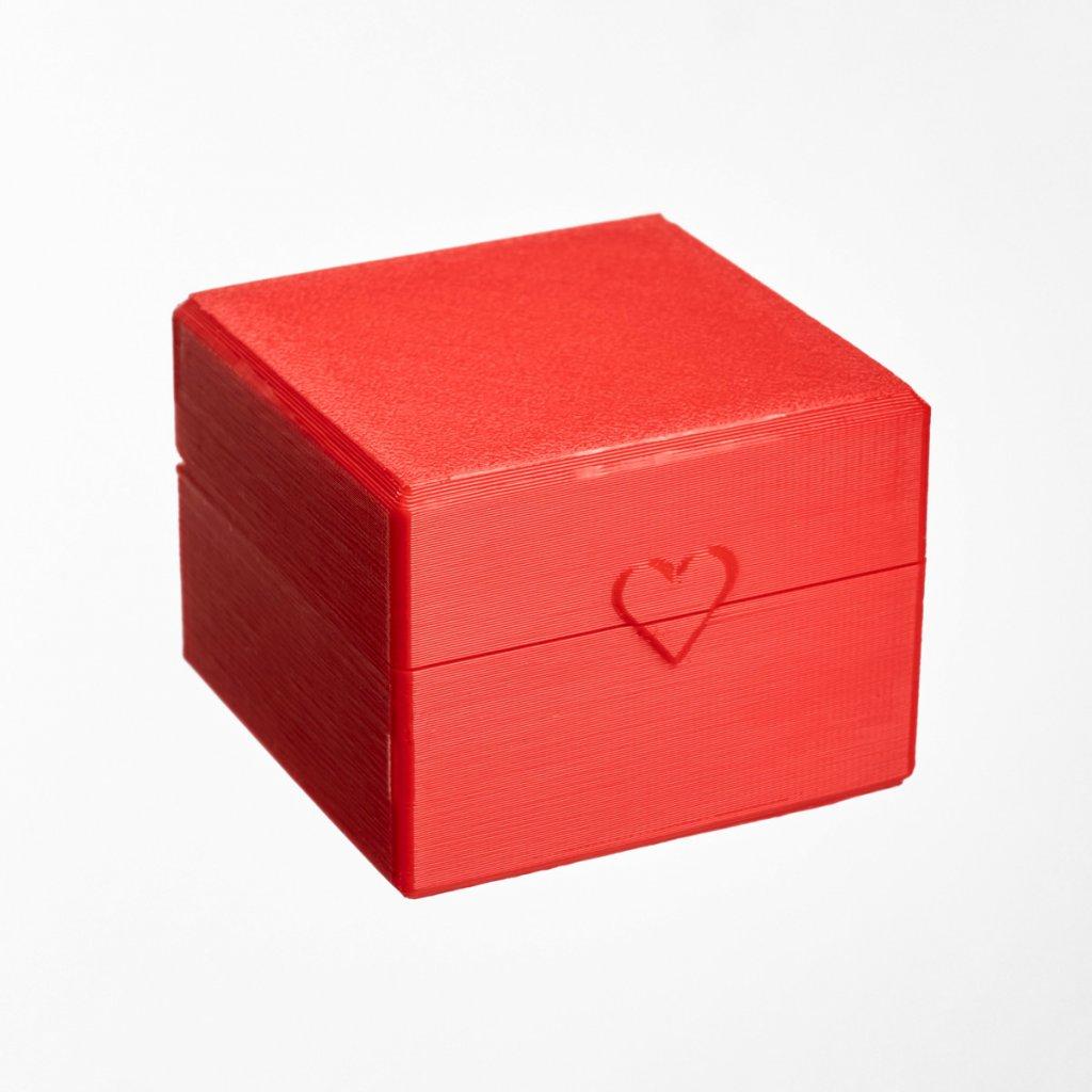 Dárková krabička z recyklovatelného plastu Tiami, červená