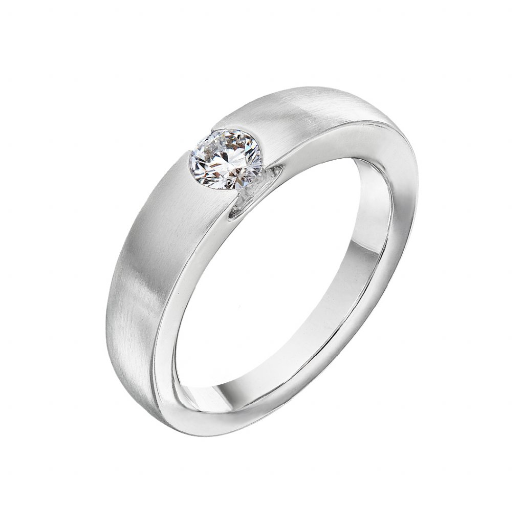 Zásnubní prsten zbílého zlataslab-growndiamantyLavitation